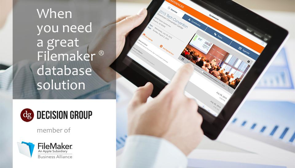 Certified Filemaker Developers: When you need a great Filemaker database solution, use Decision Group